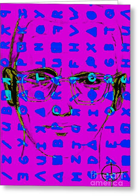 Zodiac Killer With Code And Sign 20130213m180 Greeting Card by Wingsdomain Art and Photography