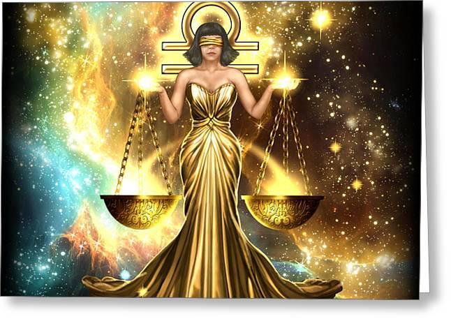 Zodiac Libra Greeting Card by Ciro Marchetti