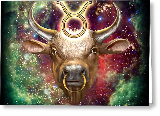 Zodiac Tauro Greeting Card