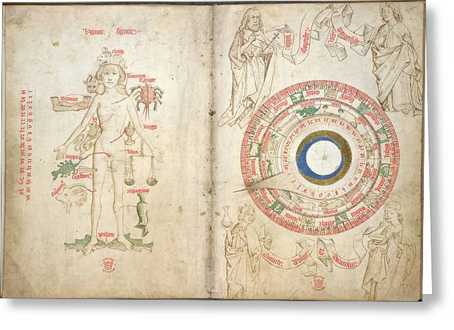Zodiacal Figure And Diagram Greeting Card