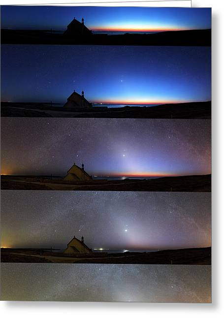 Zodiacal Light Greeting Card by Laurent Laveder