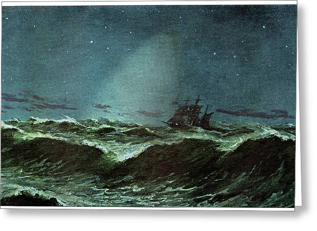 Zodiacal Light Over The Sea Greeting Card by Cci Archives