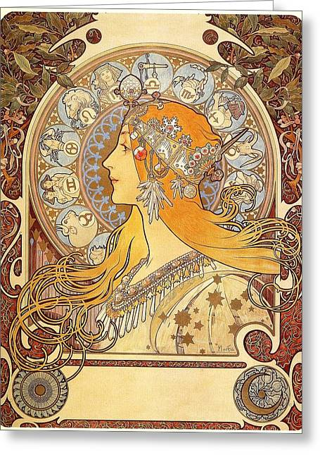 Zodiak 1896 Greeting Card
