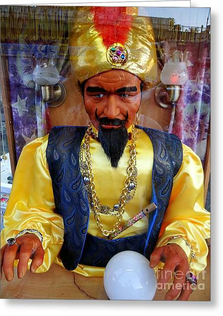 Greeting Card featuring the photograph Zoltar by Ed Weidman