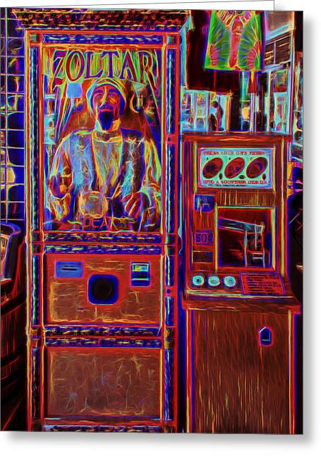 Zoltar Is Back Greeting Card by John M Bailey
