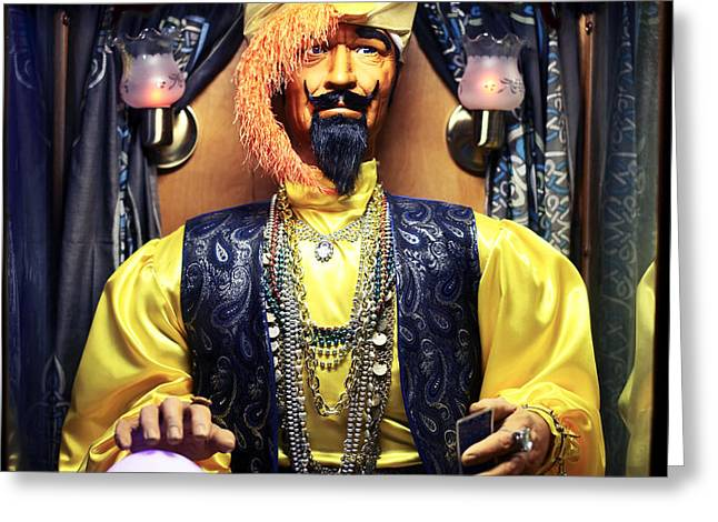 Zoltar Greeting Card by John Rizzuto