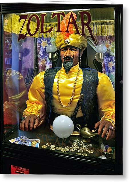Zoltar Speaks Greeting Card by Lanis Rossi
