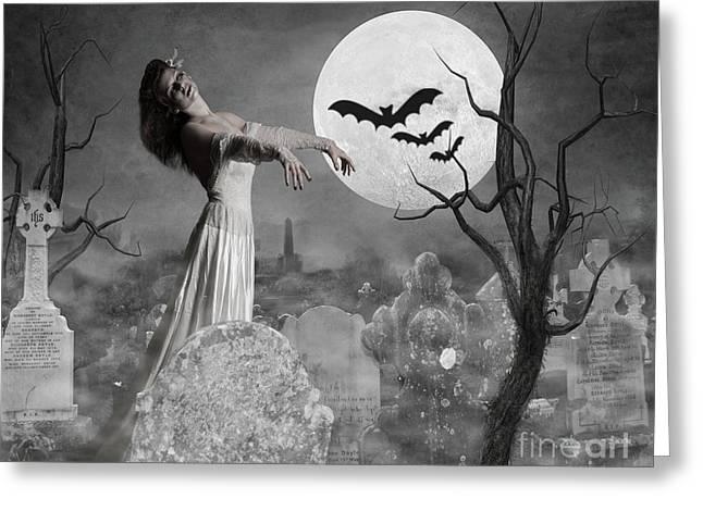 Zombie Bride Greeting Card by Juli Scalzi
