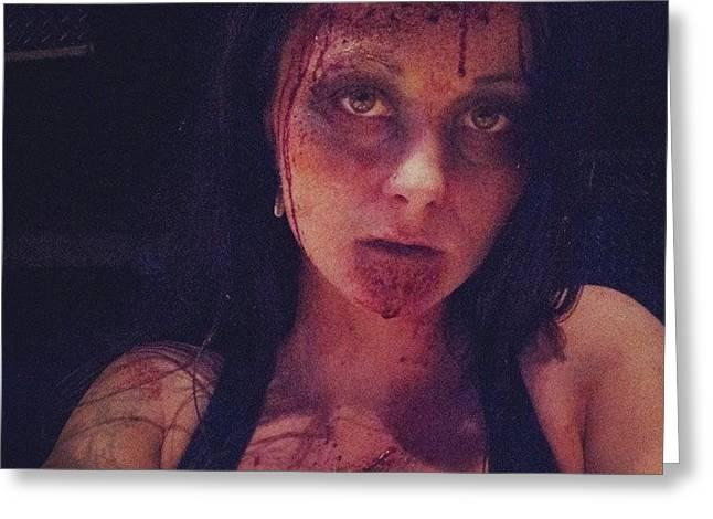 #zombie #evildead #ilovehalloween Greeting Card