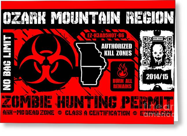 Zombie Hunting Permit Greeting Card