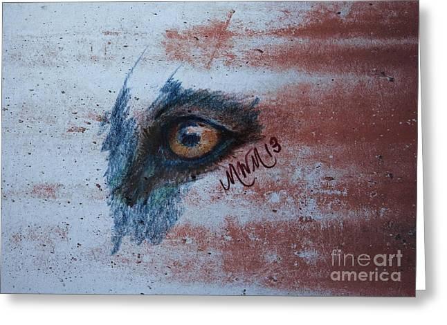 Zombie Wolf Eye Greeting Card