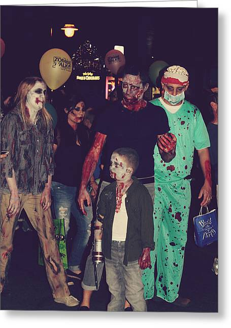 Zombies Everywhere Greeting Card by Laurie Search
