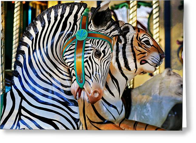 Zoo Animals 2 Greeting Card by Marty Koch