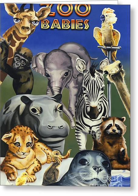 Zoo Babies Greeting Card by Tim Gilliland