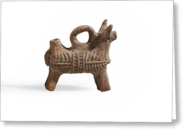 Zoomorphic Terracotta Vessel Greeting Card by Science Photo Library