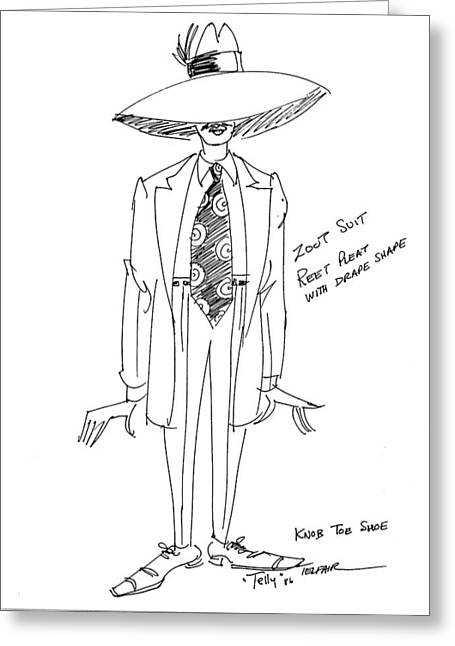 Zoot Suit Illustration 2 Greeting Card