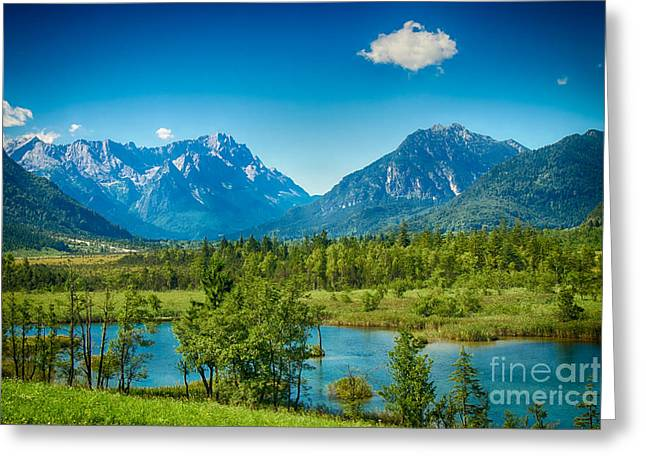 Zugspitze Greeting Card by Juergen Klust