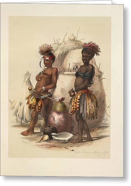 Zulu Boys Greeting Card