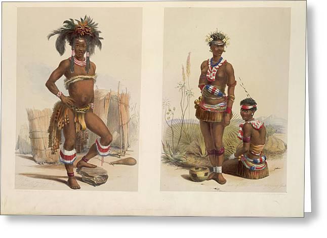 Zulu Dancers Greeting Card