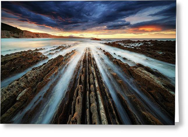 Zumaia Flysch Greeting Card