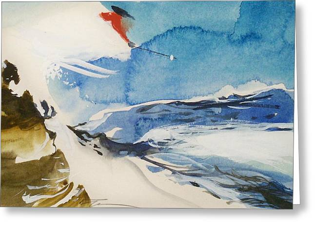 Greeting Card featuring the painting Zurich by Ed  Heaton