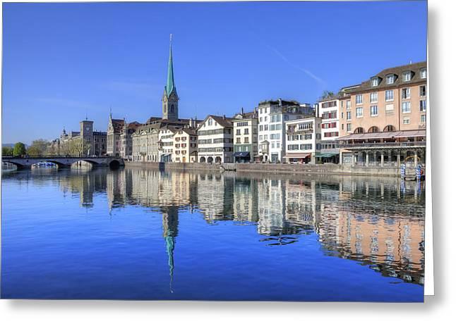 Zurich Greeting Card by Joana Kruse