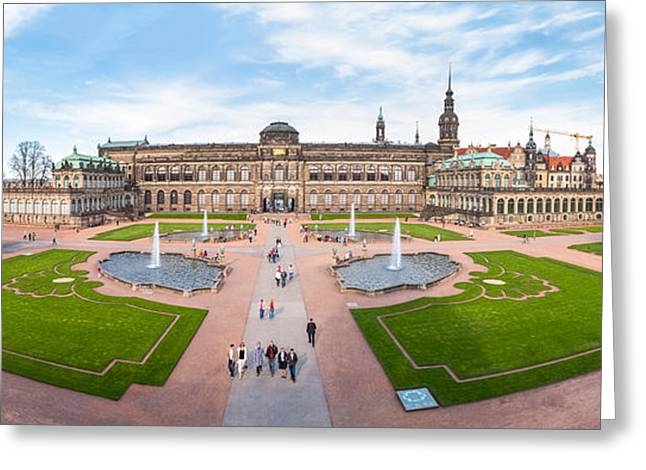 Zwinger Palace Designed By Matthaus Greeting Card by Panoramic Images