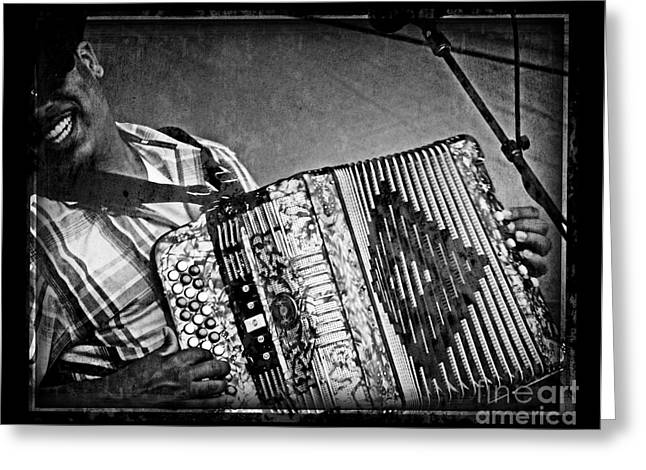 Zydeco Greeting Card by Jeanne  Woods