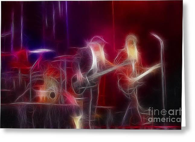 Zz Top-rhythmeen-c23-fractal-4 Greeting Card by Gary Gingrich Galleries
