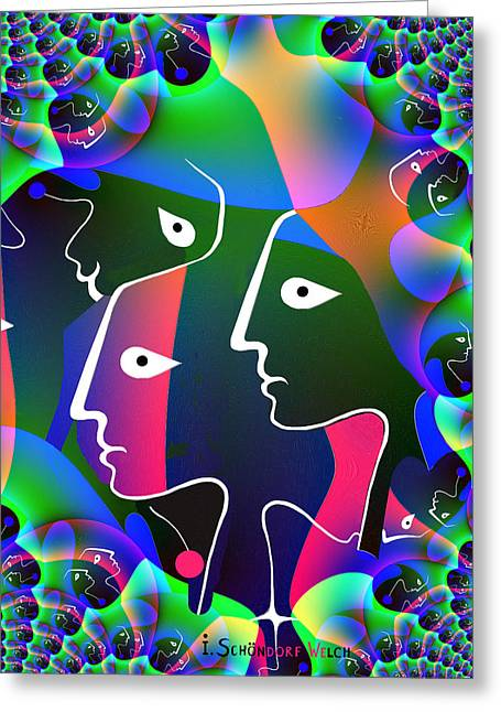 591  Faces   Fractal Greeting Card