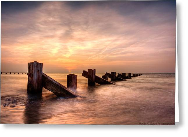 Greeting Card featuring the photograph  Abermaw Sunset by Beverly Cash