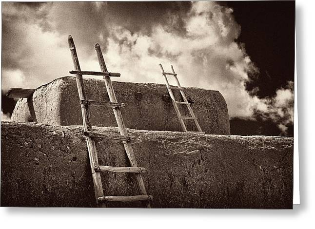 Adobe Ladders Greeting Card by Christine Hauber