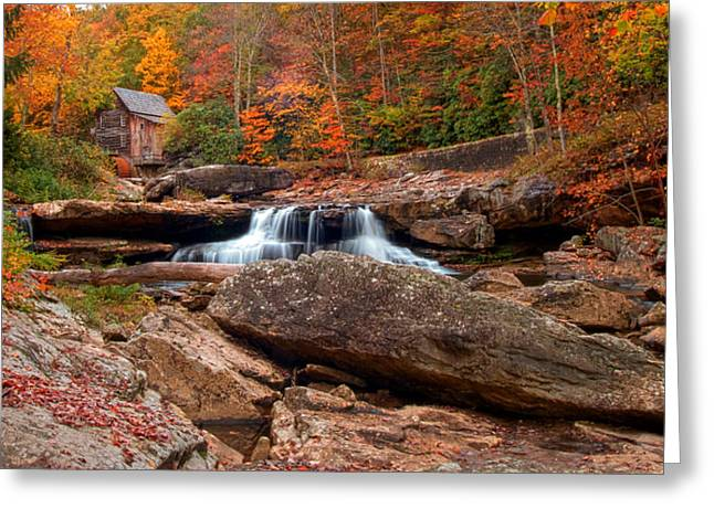 Autumn Leaves At The Mill Greeting Card by Randall Branham