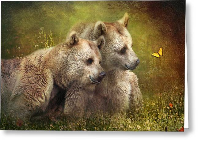 Bear Hugs Greeting Card by Trudi Simmonds