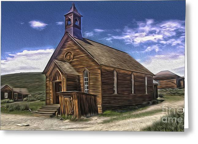 Bodie Ghost Town - Church 02 Greeting Card by Gregory Dyer