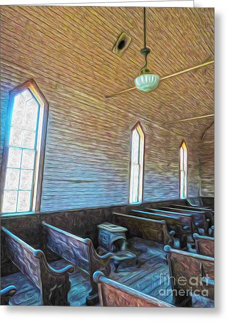 Bodie Ghost Town - Church 05 Greeting Card by Gregory Dyer