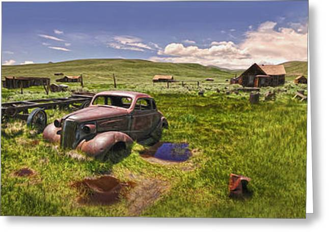 Bodie Ghost Town Panorama 01 Greeting Card