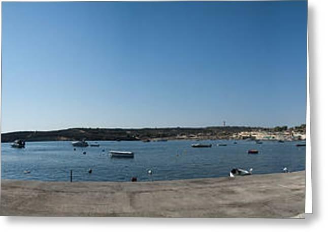 Bugibba Harbour Malta Greeting Card by Guy Viner