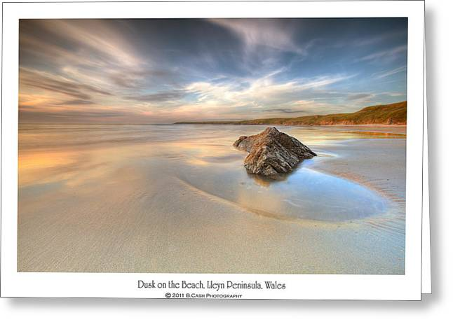 Dusk On The Beach Greeting Card by Beverly Cash