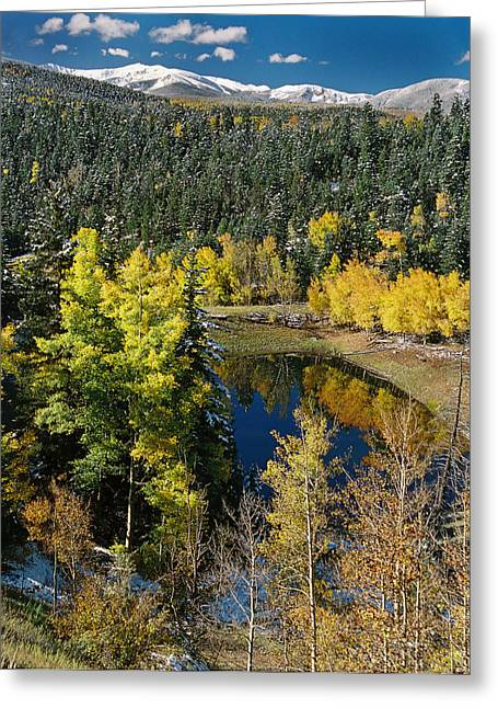 Fall Color On Bobcat Pass Greeting Card
