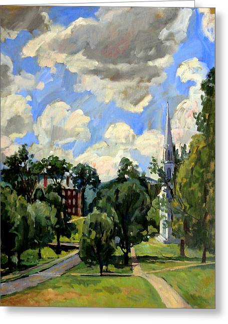 From Williamstown July Clouds Greeting Card by Thor Wickstrom