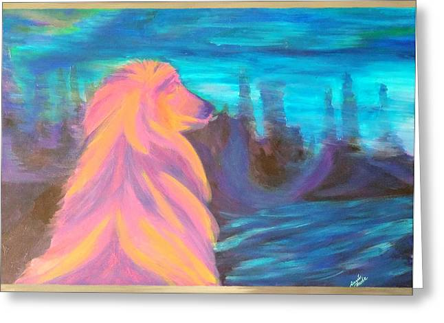 Lassie Greeting Card by Hatin Josee