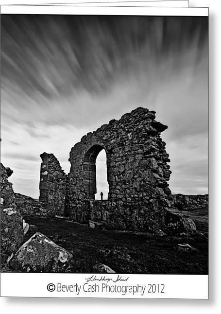 Llanddwyn Island Ruins Greeting Card by Beverly Cash