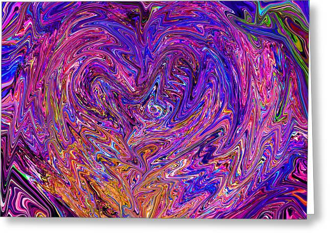 Love From The Ripple Of Thought  V 6  Greeting Card