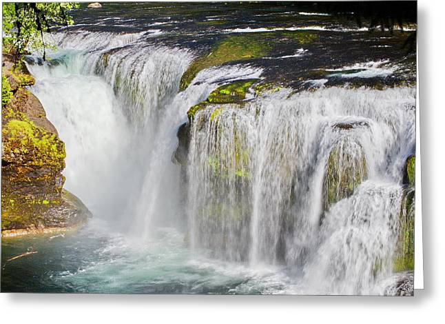 Lower Falls On The Upper Lewis River Greeting Card