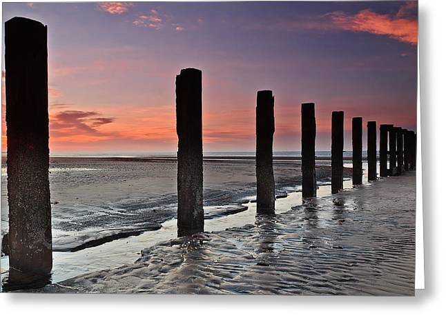 Morning Post At Stevenston Beach Greeting Card by Fiona Messenger