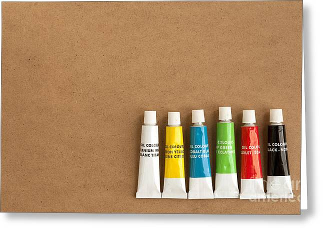 Oil Paint Tubes Greeting Card