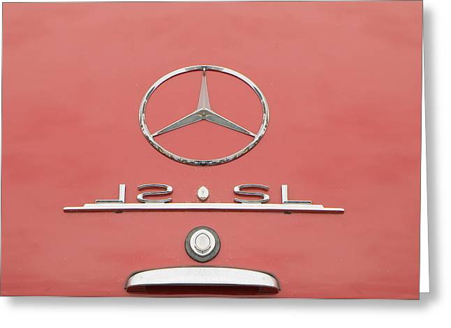 Old Mercede-benz Logos Greeting Card by Odon Czintos