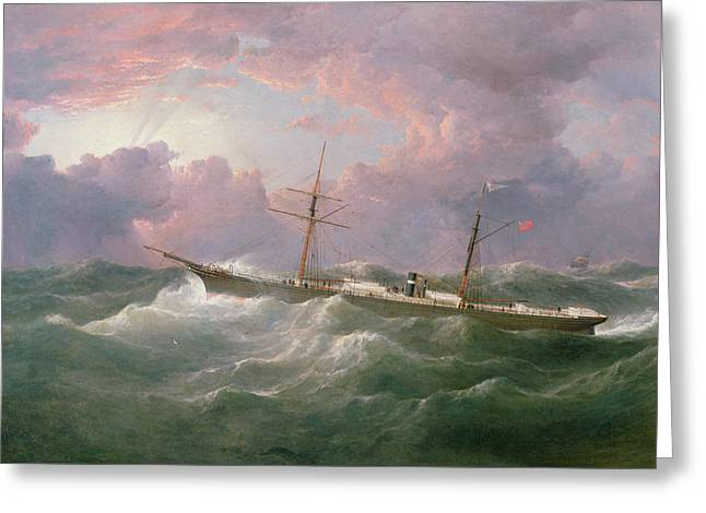Portrait Of The Lsis A Steam And Sail Ship Greeting Card