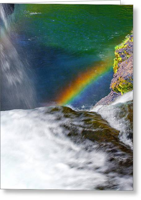 Rainbow By The Waterfall Greeting Card